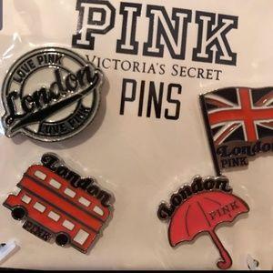 VS PINK LONDON ENGLAND PINS 😎🎩